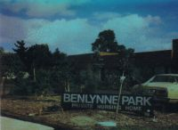 Benlynne park Nursing Home. Built by Linnie.